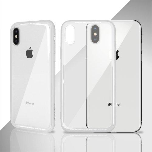 "iPhone 7 4.7"",iPhone 8 Okkes Multi Protective TPU Glass Case White image"