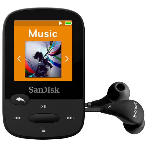 Clip Sport Mp3 Player 8GB Sandisk Black SDMX24-008G-G46K image
