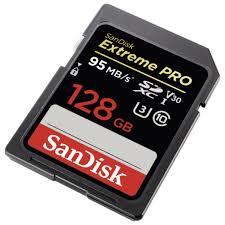 Κάρτα SD 128GB Cl10 95MB/s SANDISK Extreme PRO SDSDXXG-128G-GN4IN image