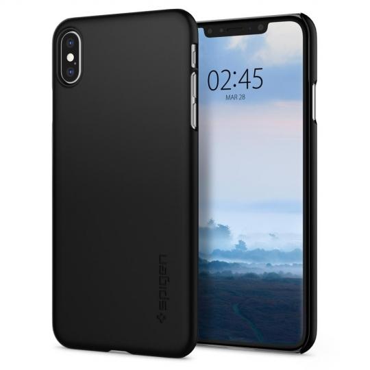 iPhone Xs MAX Spigen Thin Fit Case Black 065CS24824 image