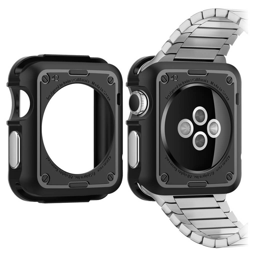 Apple Watch Series 3,2,1 42mm Spigen Tough Armor MIL-STD Gunmetal 048CS21060 image