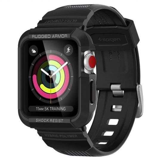 Apple Watch Series 3,2,1 Case Spigen Rugged Armor Pro 38mm Black 058CS22407