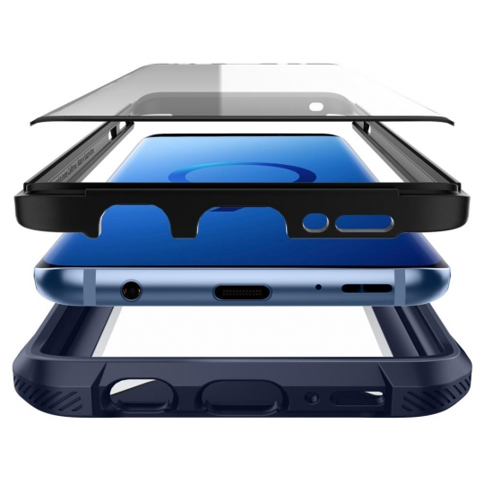 Samsung Galaxy S9 Plus Spigen Hybrid 360 Deepsea Blue 593CS23044 image