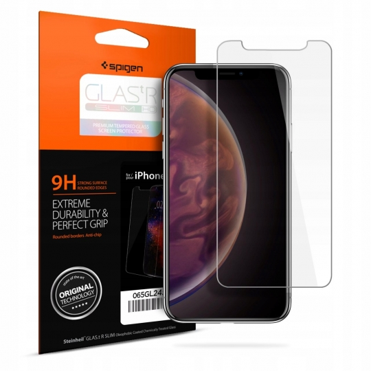 Tempered Glass Glas.tR Slim Spigen 9H iPhone Xs MAX 065GL24540