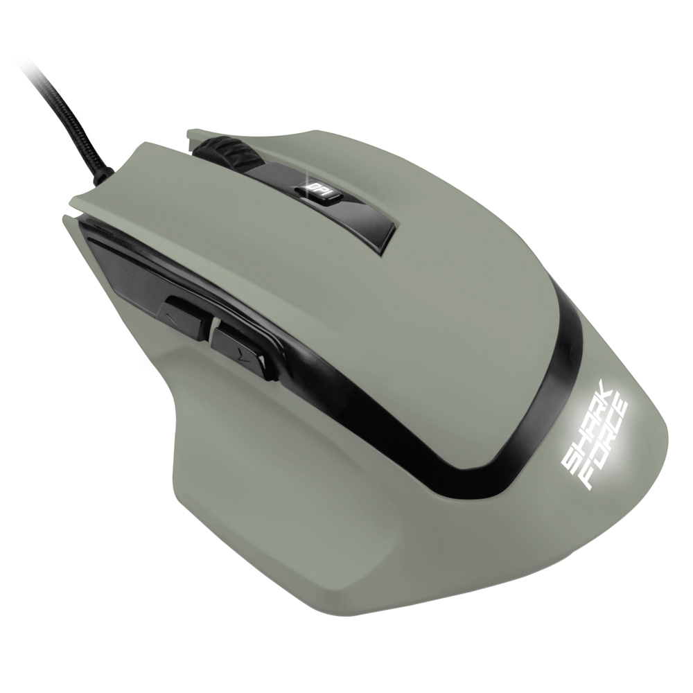 Ενσύρματο Gaming Laser Ποντίκι Shark Force Military Grey 4044951021826 image
