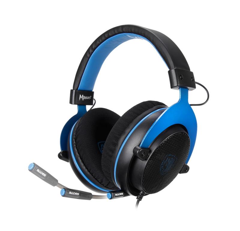 Gaming Ακουστικά Κεφαλής Sades Mpower Blue SA-723 image
