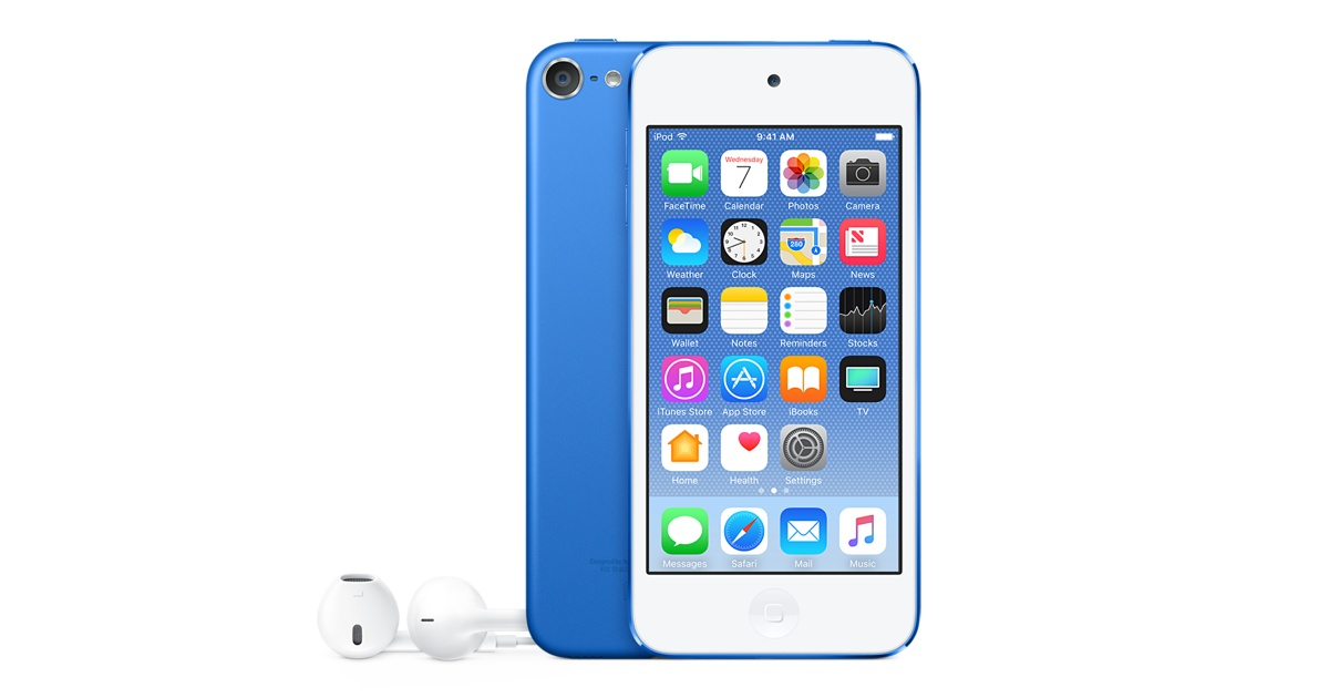 iPod Touch 6th Generation 32Gb Blue MKHV2FD/A image