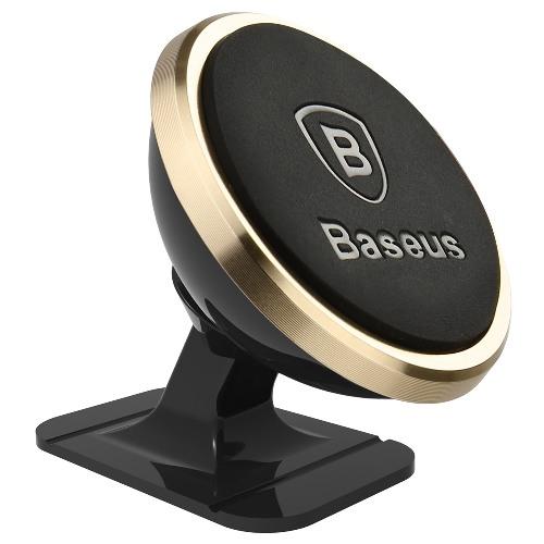 Universal Magnetic 360 Car Holder Baseus Gold SUGENT-NT0V image