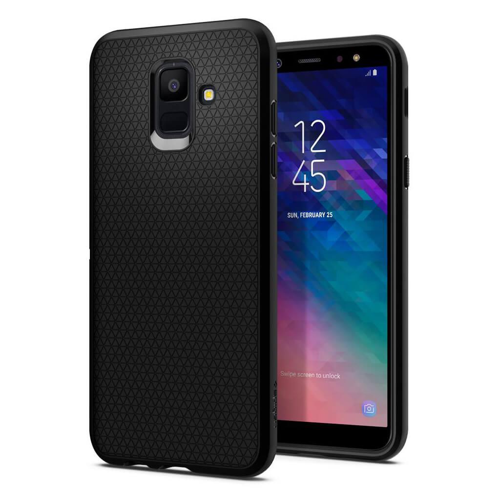 "Samsung Galaxy A6 2018 5.6"" Spigen Liquid Air Silicone Case Black 596CS24093 image"