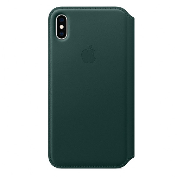 iPhone Xs Max Leather Folio Case Original Forest Green MRX42ZM/A image