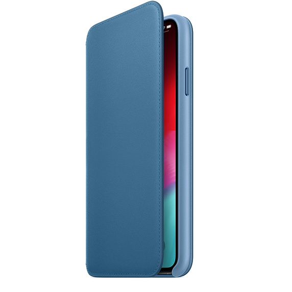 iPhone Xs Max Leather Folio Case Original Cape Cold Blue MRX52ZM/A image