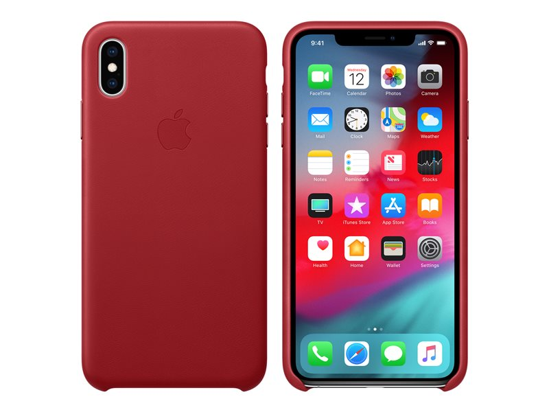iPhone Xs MAX Leather Case Original Red MRWQ2ZM/A image
