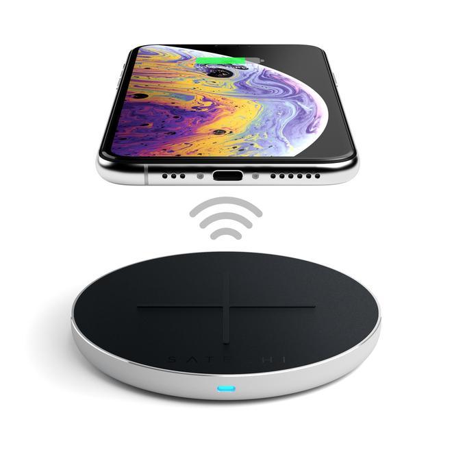 Ασύρματος Ταχυφορτιστής V2 Type C Για iPhone X,  iPhone X, Xs, XR, Xs Max Silver ST-IWCBS image