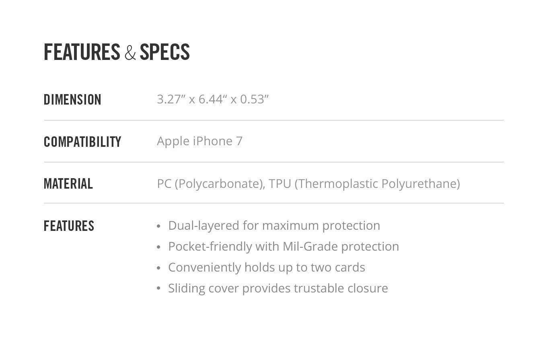 "iPhone 8/7 4.7"" Spigen Crystal Wallet MIL-STD Black 042CS20981 image"