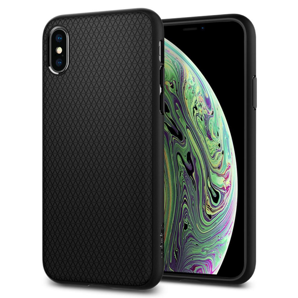 iPhone X/Xs Spigen Liquid Air Armor Silicone Case Black 063CS25114