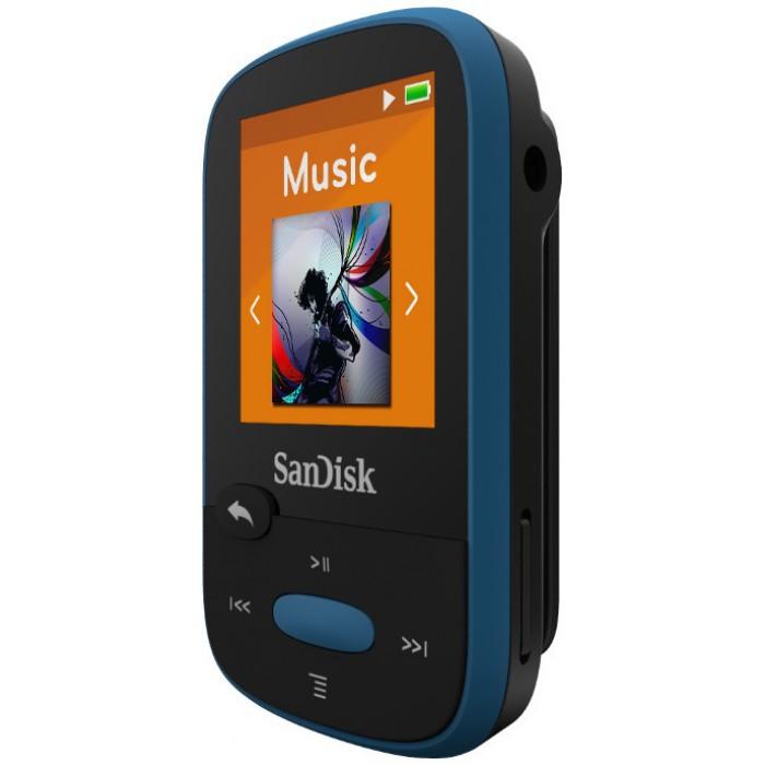 Clip Sport Mp3 Player 8GB Sandisk Blue SDMX24-008G-G46B image