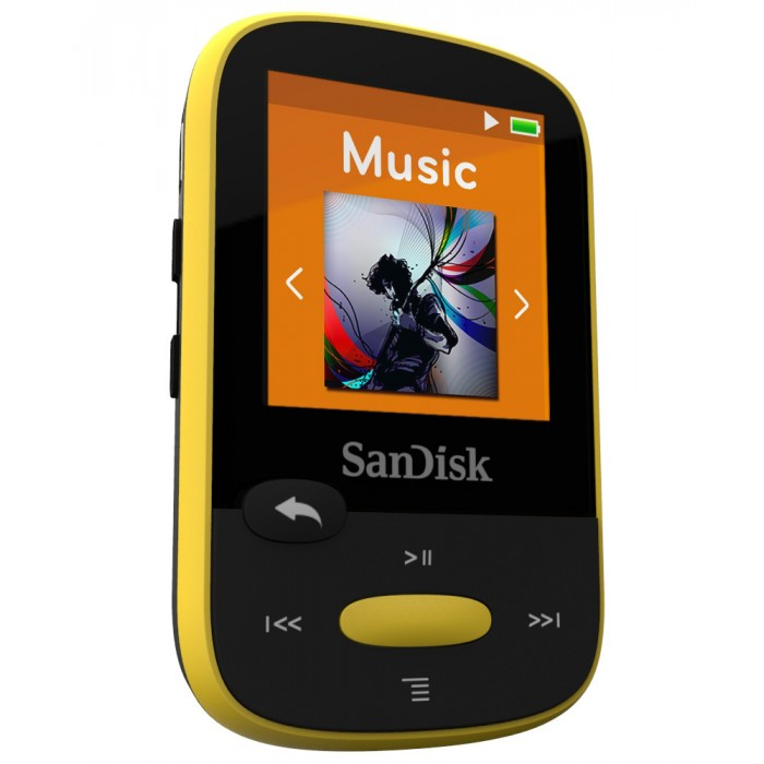 Clip Sport Mp3 Player 8GB Sandisk Yellow SDMX24-008G-G46Y image