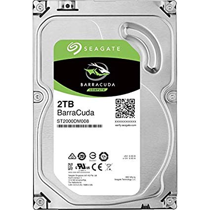 "HDD Seagate Barracuda 3.5"" 2TB Cache 256MB ST2000DM008 image"