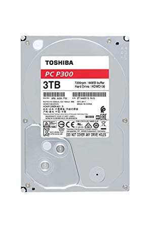 "HDD Toshiba 3.5"" 3TB P300 7200, 64mb, SATA 3 Bulk HDWD130UZSVA image"