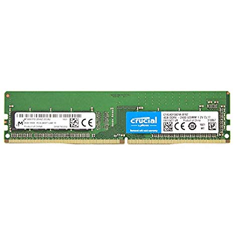 Crucial By Micron 4GB Ram DDR4 2400MHz CL17 CT4G4DFS824A image