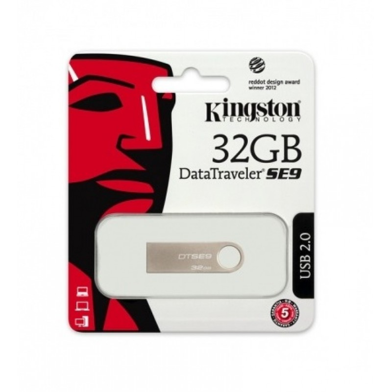 Data Traveler SE9 USB 2.0 32GB DTSE9H Kingston Champagne image