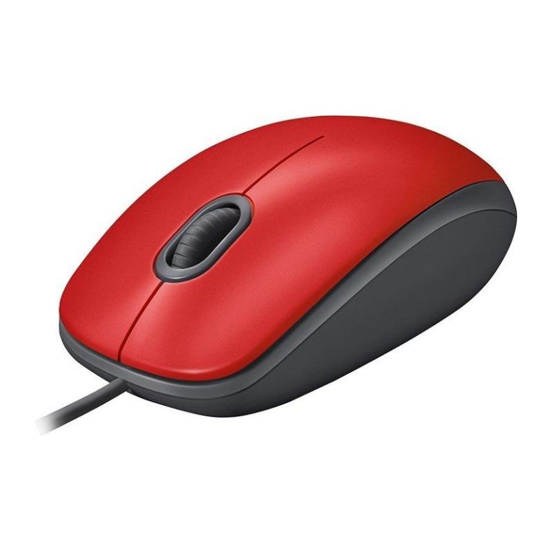 Ενσύρματο Ποντίκι Logitech M110 Silent Red 910-005489 image
