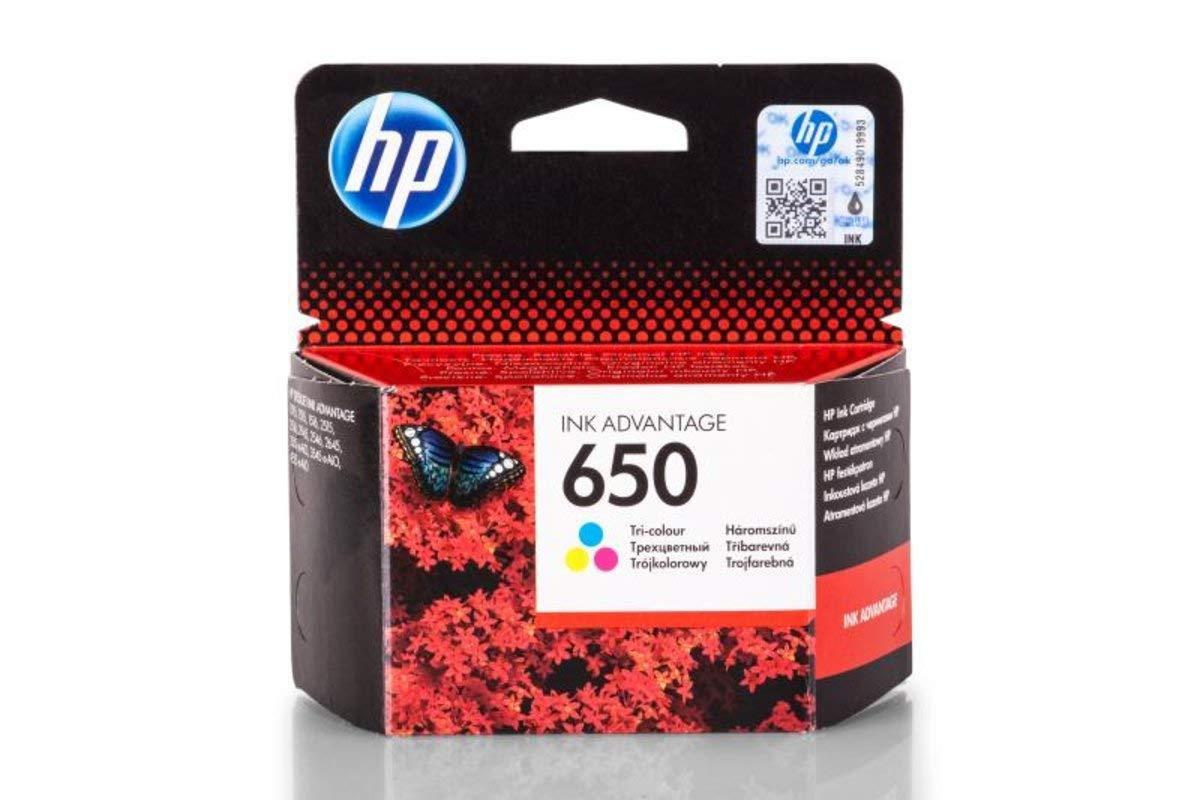Γνήσιο Μελάνι HP 650 Tri-Colour CZ102AE image