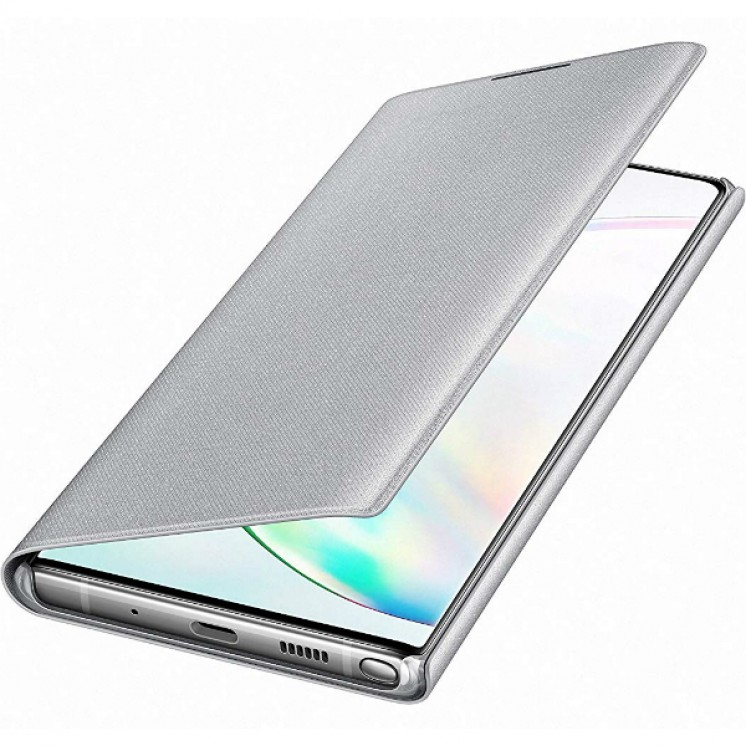 Original LED View Cover Samsung Galaxy Note 10 Plus N975 Silver EF-NN975PSE image