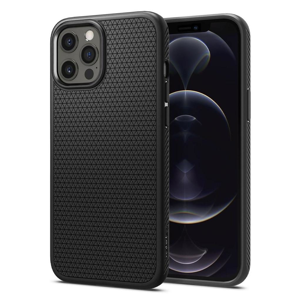 iPhone 12 Pro Max Spigen Liquid Air Case Matte Black ACS01617 image