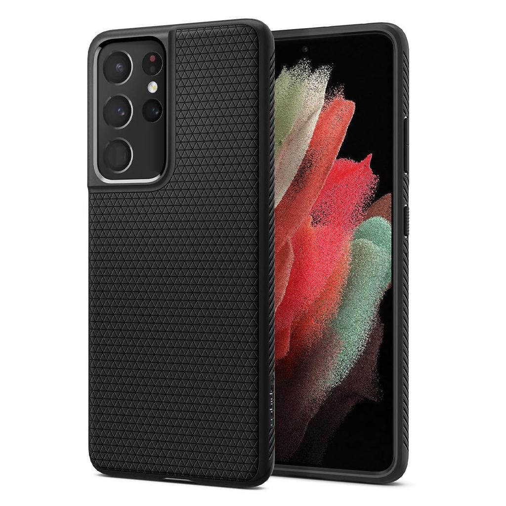 Samsung Galaxy S21 Ultra Spigen Liquid Air Case Matte Black ACS02350