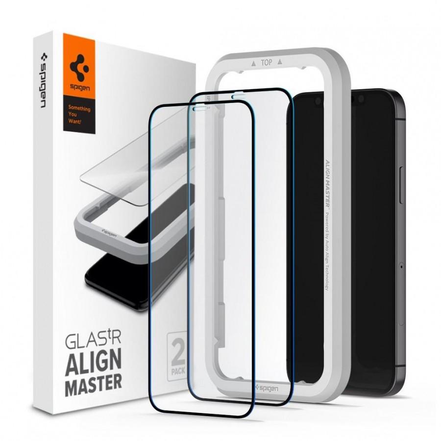 Tempered Glass x2 Glas.tR Align Master Spigen 9H iPhone 12 Pro Max AGL01792 image