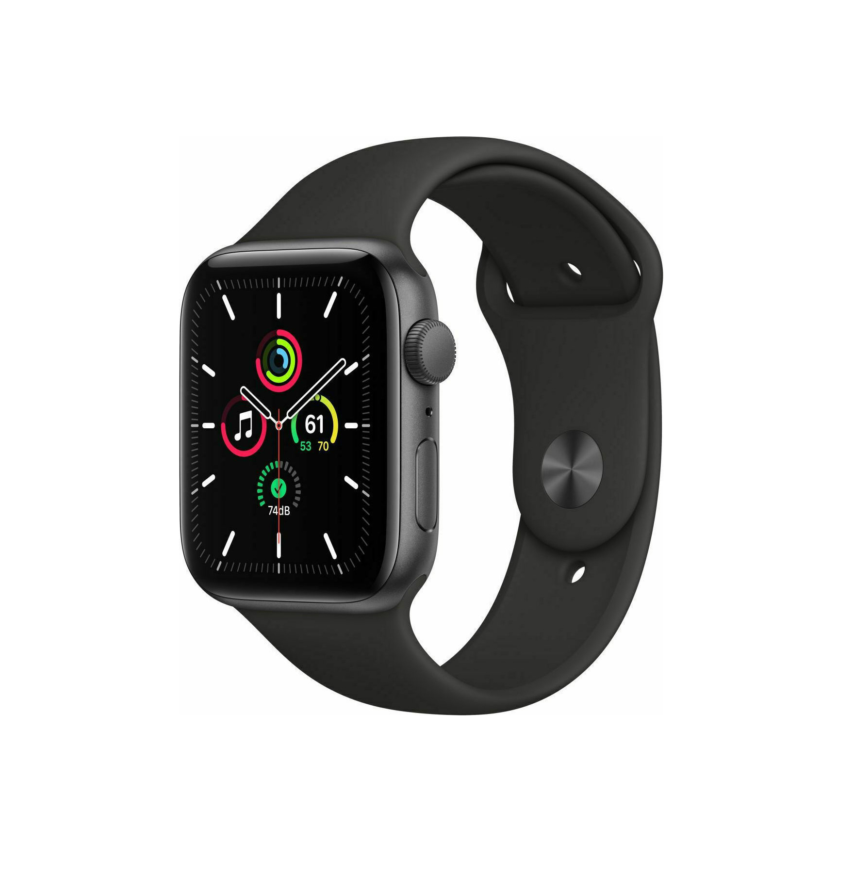 Apple Watch SE Aluminium 44mm Black Sport Band MYDT2 image