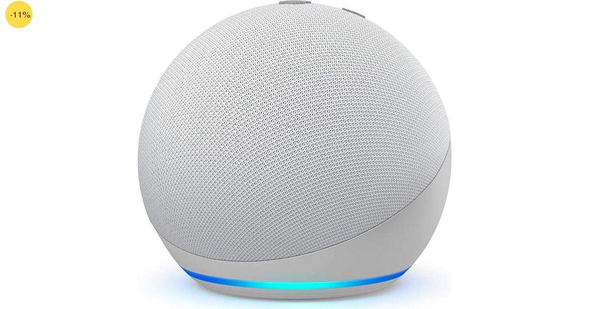 Amazon Echo Dot (4th Gen) Glacier White B084J4KNDS image