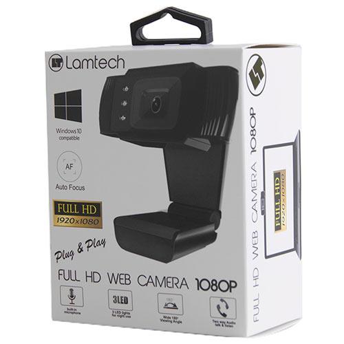Web Camera Full HD 1080p With LED Lamtech LAM021509