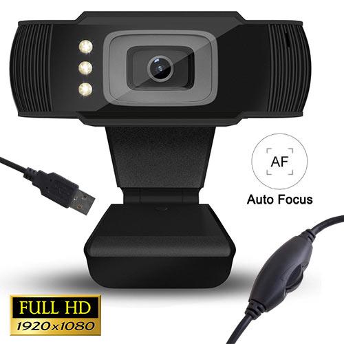Web Camera Full HD 1080p With LED Lamtech LAM021509 image