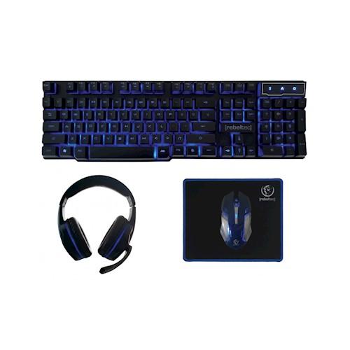 Gaming Set 4in1 Rebeltec Sherman (Keyboard,Mouse,Headset,Mousepad) image