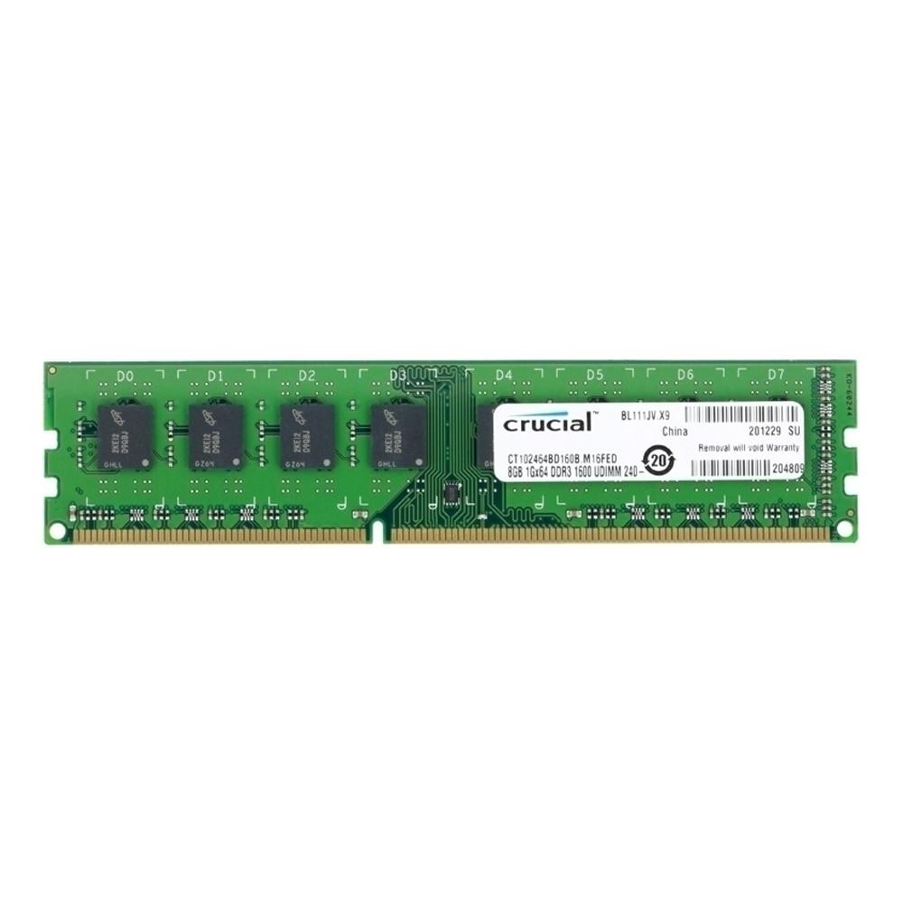 Crucial By Micron 8GB Ram DDR3L Για Σταθερό 1600MHz CL11 CT102464BD160B image