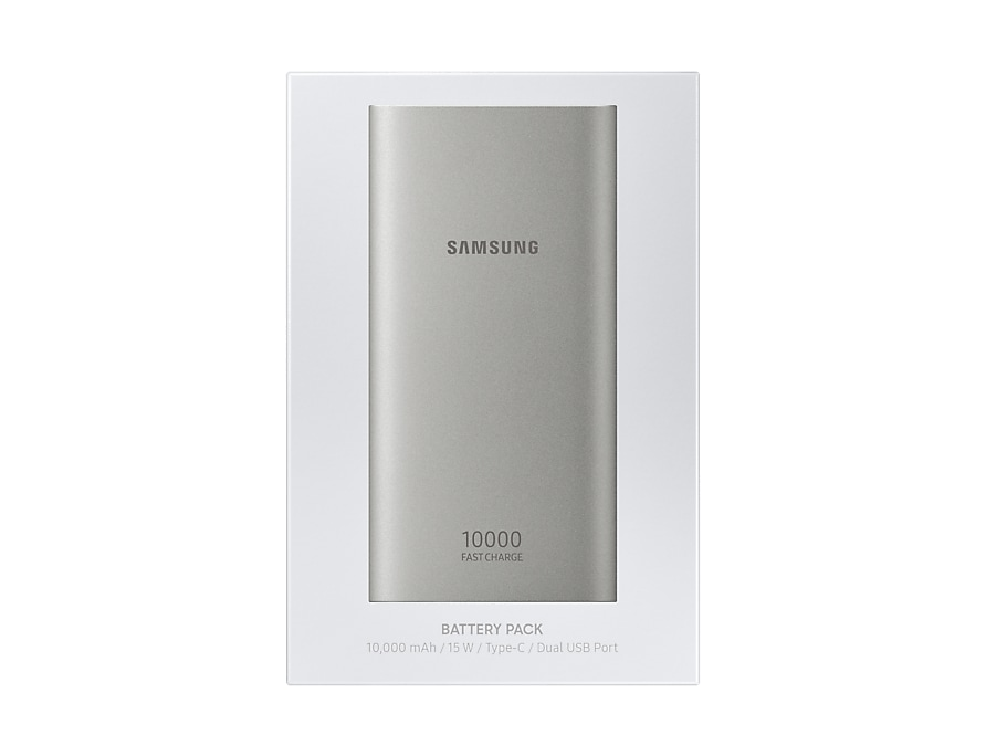 Power Bank Original Samsung Battery Pack Type C 10000mAh Silver EB-P1100CSE image