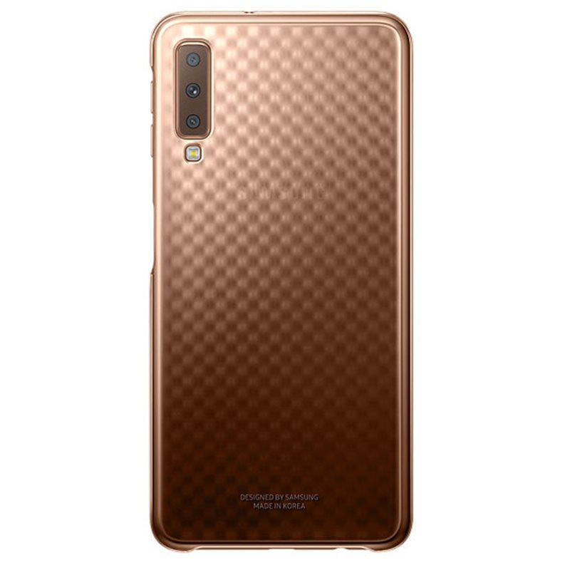 "Samsung Galaxy A7 2018 6"" Gradation Cover Ultra Thin Gold EF-AA750CFE image"