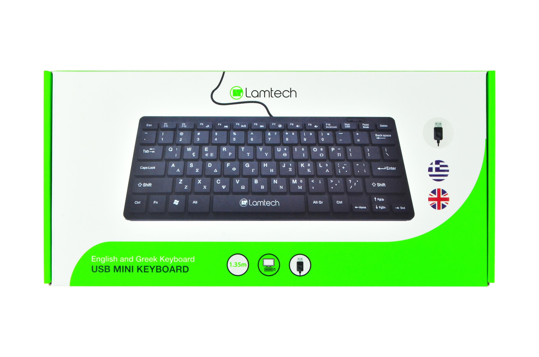 Πληκτρολόγιο Ενσύρματο USB Mini Lamtech GR Layout LAM081710 image