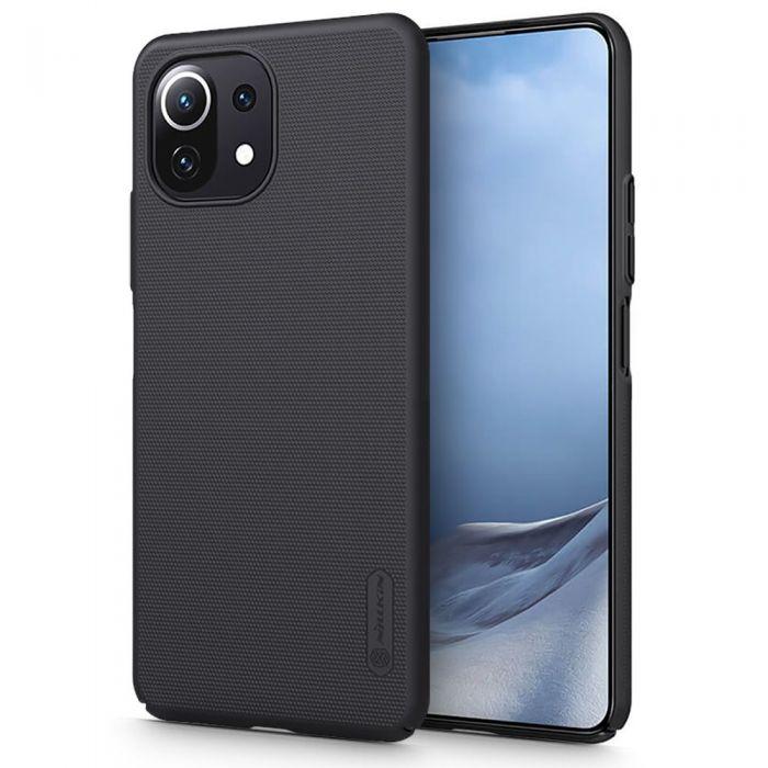 Xiaomi Mi 11 Lite Nillkin Frosted Shield Back Cover Σιλικόνης Μαύρο image