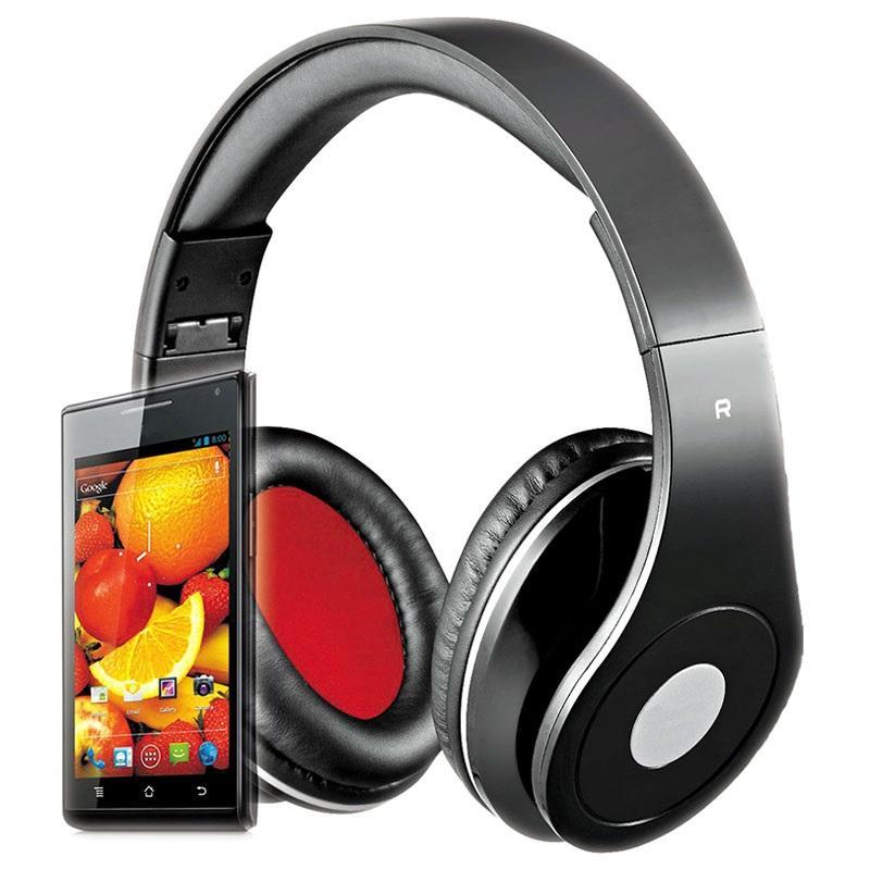 """Ακουστικά Κεφαλής 3.5"""" Audiofeel 2 Rebeltec PC, Smartphones, Tablets, MP4 Black image"""