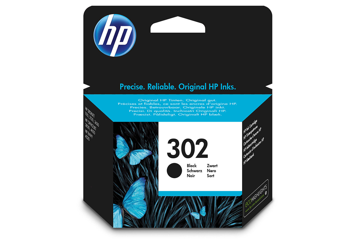 Γνήσιο Μελάνι HP 302 Black F6U66AE  image
