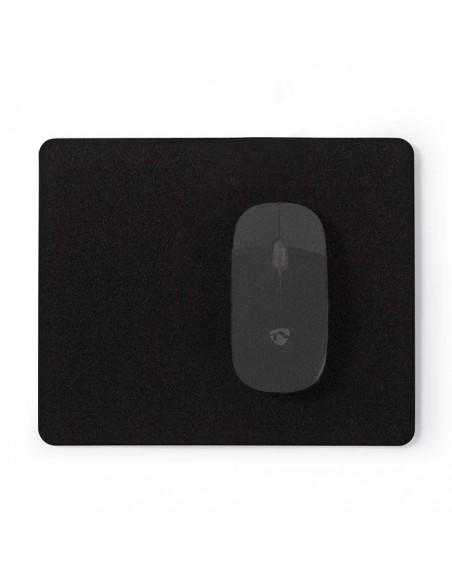 Mousepad 18 x 22 cm Black Mat Nedis MPADF100BK image