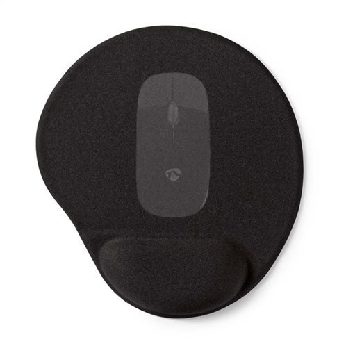 Mousepad  Gel Black 25 x 22 cm Nedis MPADFG100BK image