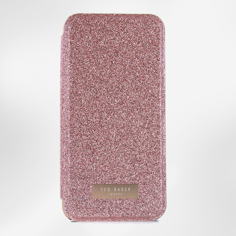iPhone 8 (7/6/6S) Mirror Folio Case GLITSIE Rose Gold Ted Baker 41236 image