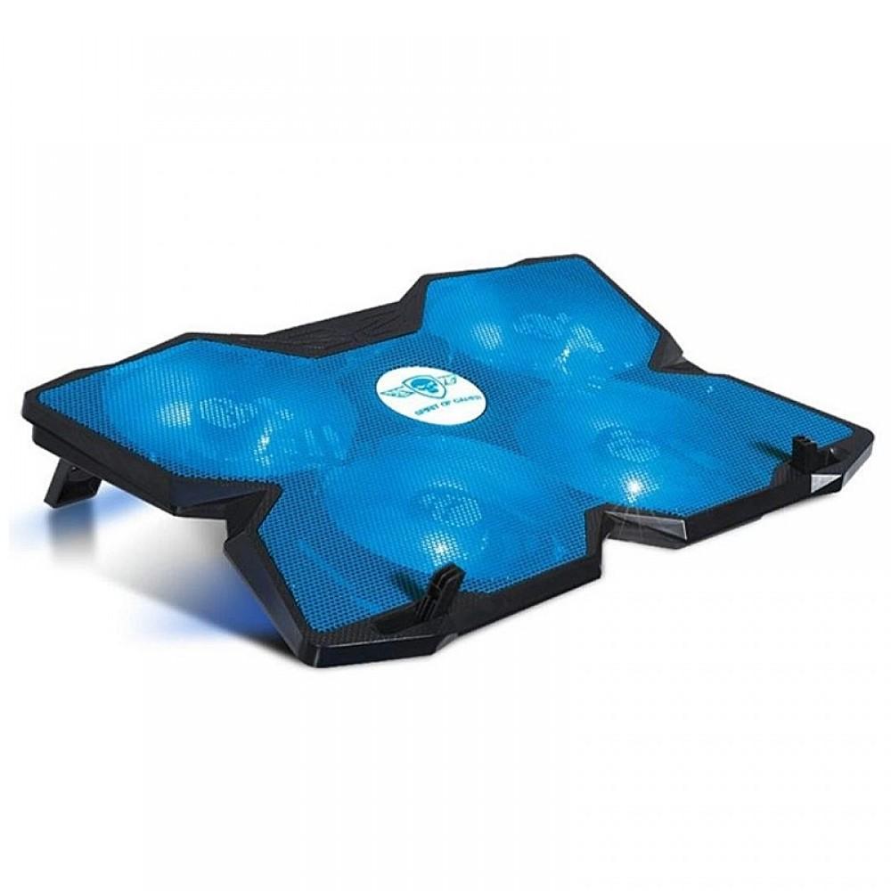 """Βάση Στήριξης Laptop 17"""" Με 4 Ανεμιστήρες 120mm SOG Airblade 500 Blue image"""