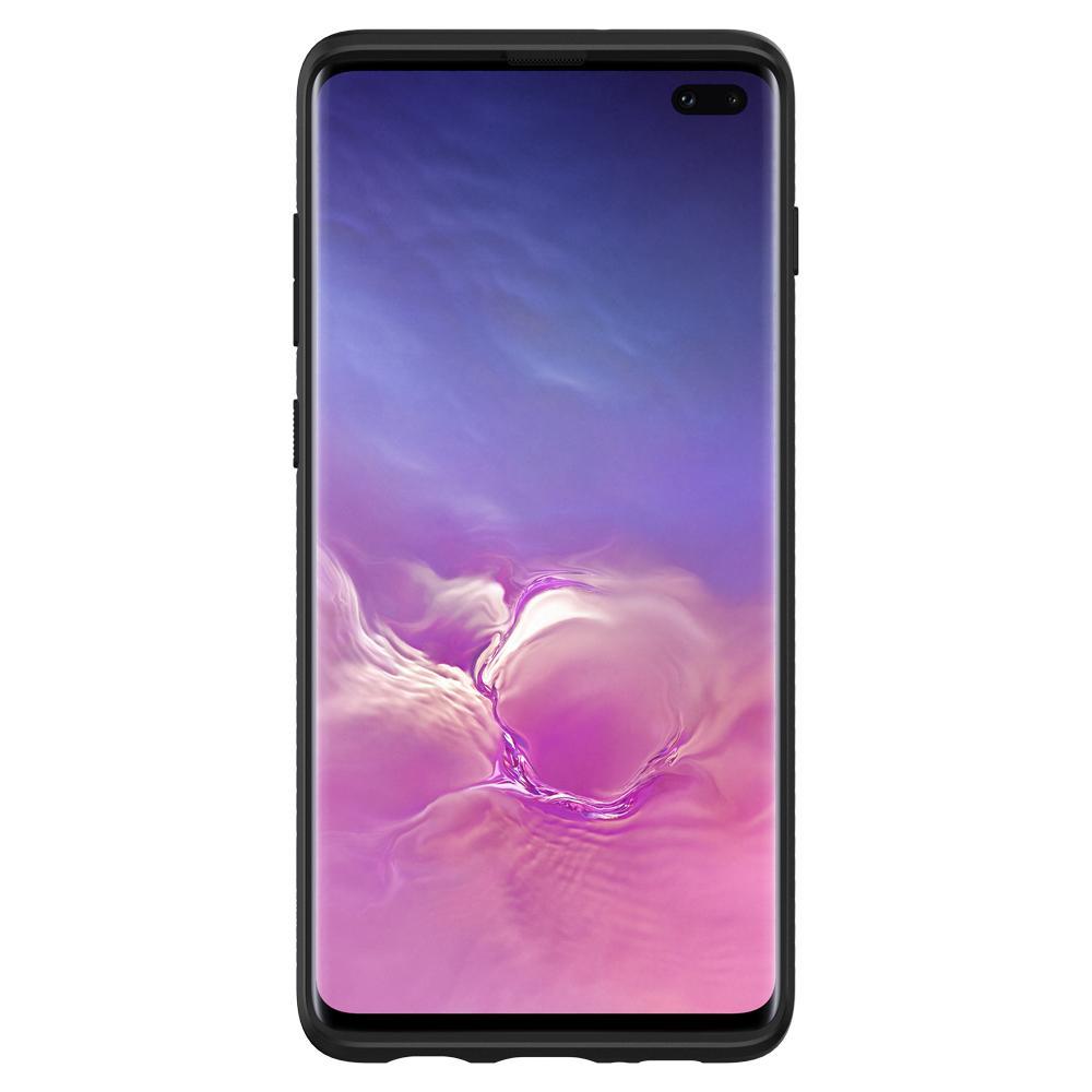 Samsung Galaxy S10 G973 Spigen Liquid Air Armor Silicone Case Matte Black 605CS25799 image