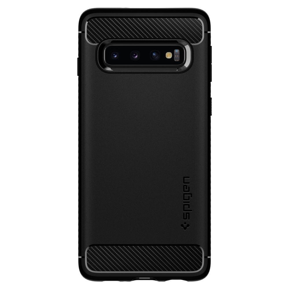 Samsung Galaxy S10 Plus G975 Spigen Rugged Armor Black 606CS25765 image