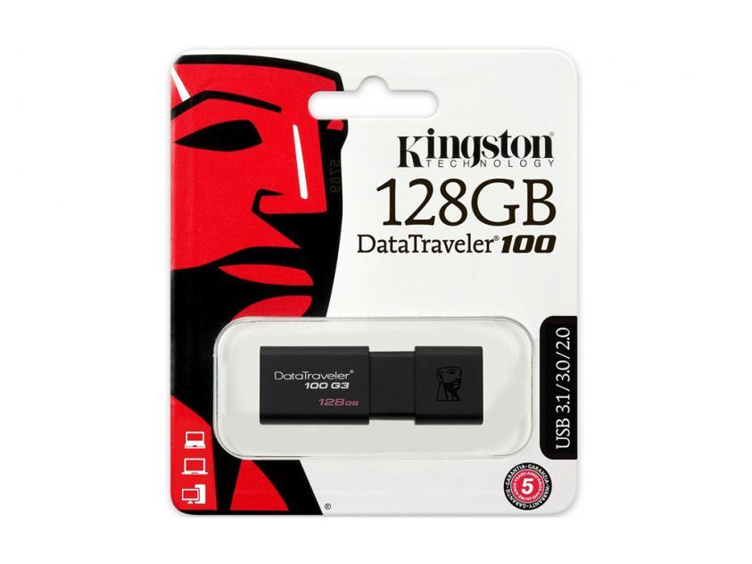 Data Traveler 100 G3 USB 3.0 128gb Kingston DT100G3/128GB image